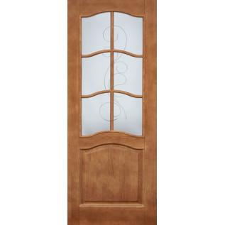 Двери массив сосны Романтика ДО светлый орех 5%