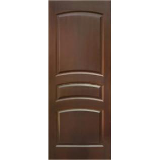 Двери массив сосны Вероника ДГ темный орех