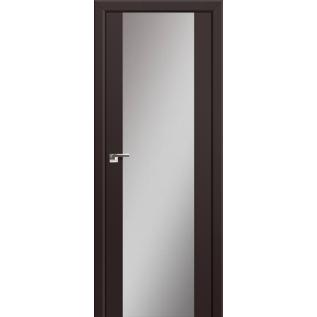 Дверь 8U Тёмно-коричневый, зеркальный триплекс