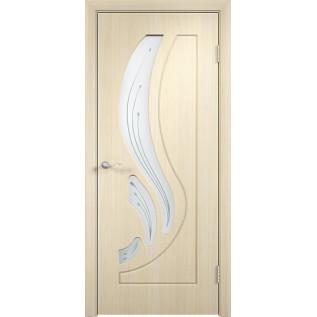 Двери ПВХ Лиана ДО беленый дуб