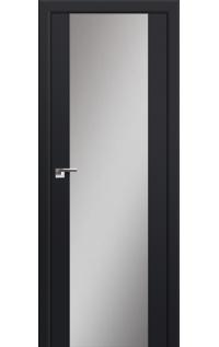 Дверь 8U Чёрный матовый, зеркальный триплекс