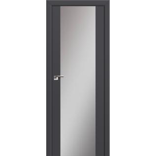 Дверь 8U Антрацит, зеркальный триплекс